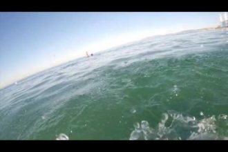 Video thumbnail for youtube video This Surfer is Lucky This Dolphin Was Around