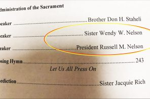 The Prayer That Was Answered While Sitting In Front Of President Nelson In Church Today